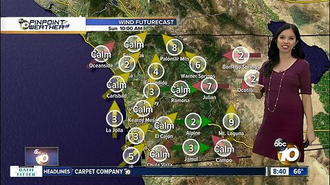 10News Pinpoint Weather for Sun. Oct. 13, 2019