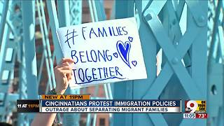 Cincinnatians protest Trump's 'zero-tolerance' policy of separating migrant families - Video