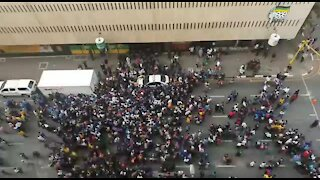 SOUTH AFRICA - Johannesburg - School protest (videos) (7o4)