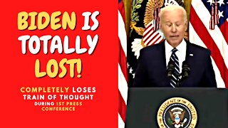 Biden LOSES Train of Thought During 1st Press Conference