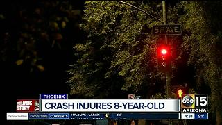8-year-old girl injured in Phoenix crash - Video