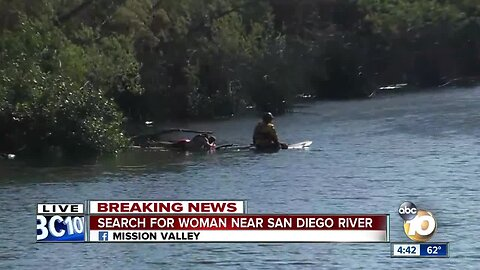Search for missing woman near San Diego River