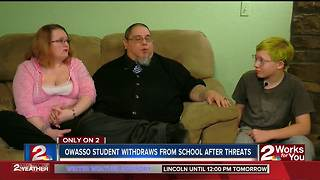 Parents withdraw son from Owasso school following death threats - Video