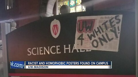 Mysterious posters with racist and homophobic messages found on UW-Madison campus