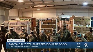 Produce industry donates food, National Guard delivers