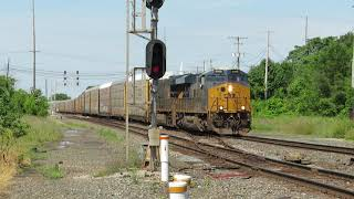 CSX Eastbound Autorack Train From Marion, Ohio Part 2 Going Backwards