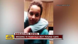 Missing 11-year-old Holiday boy found at friend's house - Video