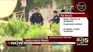 Deadly crash being investigated in Phoenix - Video