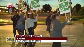 UAW workers go on strike in Saline