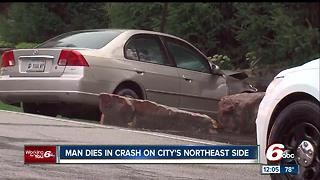 Man dies after crash on Indy's northeast side - Video