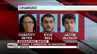 1 dead, 3 arrested in arcadia shooting intro - Video