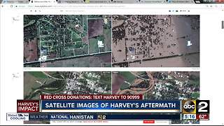 Satellite images of Hurricane Harvey aftermath released - Video