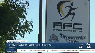 Gym owner faces charges