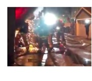 California Firefighters Battle an Electrical Fire - Video
