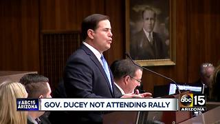 Doug Ducey not attending Donald Trump Phoenix rally - Video