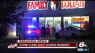 Family Dollar store clerk shot on Indianapolis' east side - Video