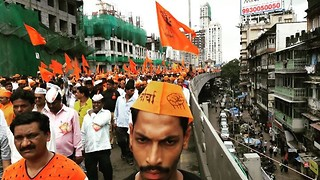 Hundreds of Thousands March in Mumbai for Latest Maratha Kranti Morcha Protest - Video