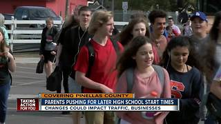Parents pushing for later high school start times - Video