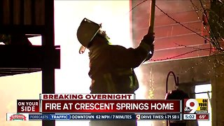 Fire at Crescent Springs home displaces three