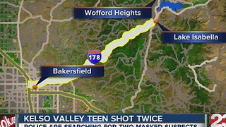 Kelso Valley teen shot twice - Video
