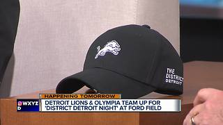 Detroit Lions and Olympia team up for District Detroit night - Video