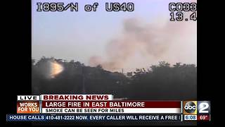 Lanes reopened on I-895 after brush fire