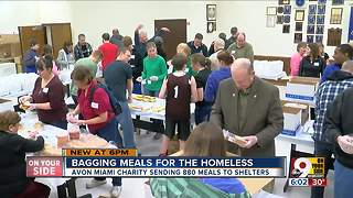 Avon Miami Charity makes over 800 meals for Greater Cincinnati homeless shelters - Video