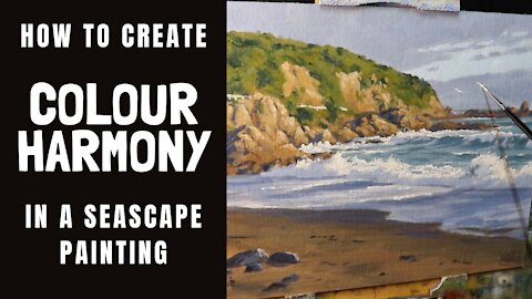 How to Create COLOUR HARMONY in a Seascape Painting