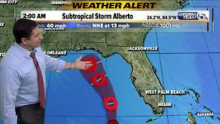 Alberto's impact on South Florida as of 4 a.m. Sunday