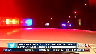 Gun storage policy changes after thefts