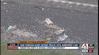 1 hurt in crash involving armored car on 152 HWY - Video