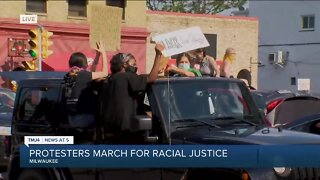 Protesters continue to march through Milwaukee's south side