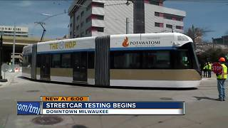 Milwaukee street car takes first run downtown - Video
