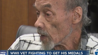 Veteran fighting to get medal he earned during WWII - Video