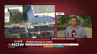 Clearwater student burned in school fire, airlifted to hospital - Video