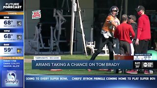 Arians talks about taking chance on Tom Brady