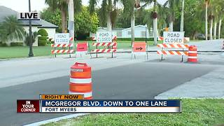 McGregor Boulevard closed for road work Monday - Video