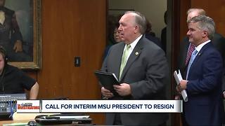 MSU Interim President John Engler says he won't resign, 'I continue to look ahead' - Video