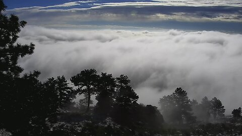Timelapse as fog settles in on Lookout Mountain