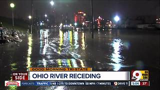 Ohio River floodwaters continue to recede