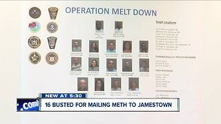 16 busted for drug trafficking in Jamestown - Video