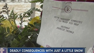 Deadly consequences with just a little snow - Video