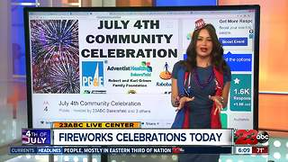 Fireworks celebrations in Kern County - Video