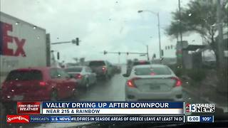 Valley drying up after downpour - Video