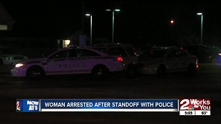 Woman arrested after standoff with police