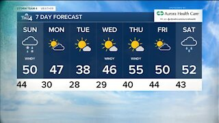 A wind, rain and snow mix forecasted for Sunday