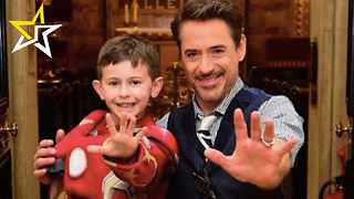 Robert Downey Jr. Visits 'Iron Man' Fans At London Hospital - Video