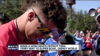 Make-A-Wish sends Detroit teen Terry Irby to Super Bowl AND Disney World