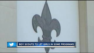 In historic change, Boy Scouts to let girls in some programs - Video