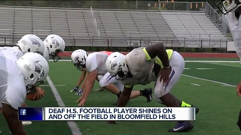Deaf High School football player shines on and off the field